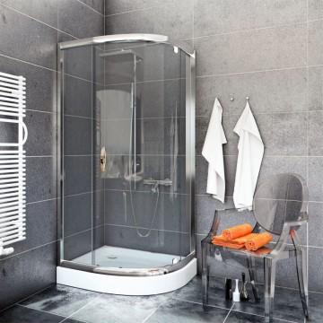 STYLIO Kabina 80x100x190  BK501T  profil chrom/szkło transparentne *WYSYŁKA GRATIS!!!
