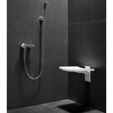 BESCO ACTIVE Siedzisko prysznicowe składane kolor biały