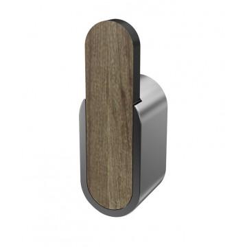 Bisk BERGEN 07062 Pwieszak pojedyńczy chrom drewno