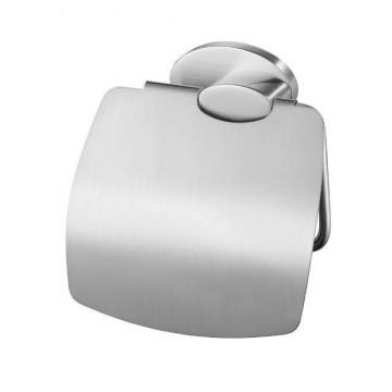Bisk 03128 SIDE Uchwyt wc z klapką satyna nikiel