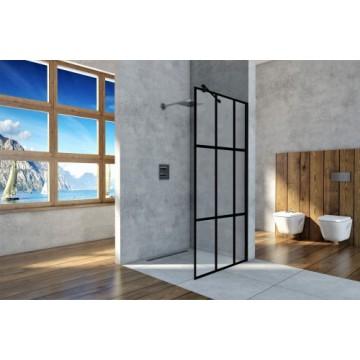EASY IN Walk-In BK251T10A6  Ścianka narożna100 szkło transparentne A6 profil chrom