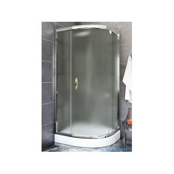 STYLIO  BK501RC+ Kabina półokrągła  80x80x170 jednoskrzydłowa profil chrom/szkło chinchila z powłoką CleanGLASS