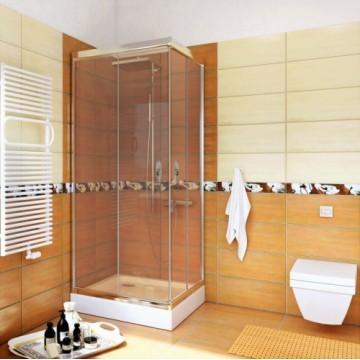 STYLIO  BK501QT+ Kabina kwadratowa 80x80x190  profil chrom/szkło transparentne z powłoką CleanGLASS