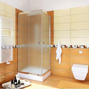 STYLIO  BK501QC+ Kabina kwadratowa 80x80x190  profil chrom/szkło chinchila z powłoką CleanGLASS