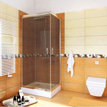 STYLIO  BK501QG+ Kabina kwadratowa 80x80x190  profil chrom/szkło grafit z powłoką CleanGLASS