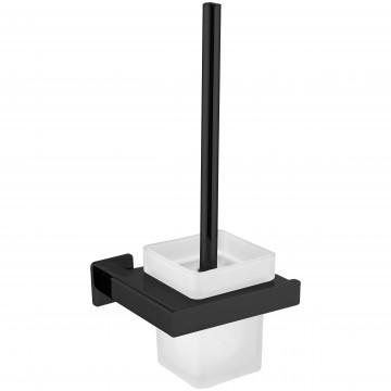 Omnires NL80620BL NELSON szczotka wc czarny mat