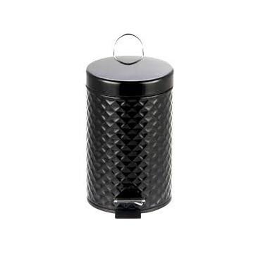 Bisk 07576 Kosz na śmieci 3 litry Bisk stal czarna