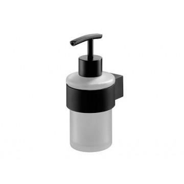 Bisk Futura Black Dozownik do mydła czarna satyna/szkło 02953
