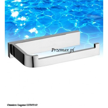 Omnires LUGANO Uchwyt na papier toaletowy chrom LU30510