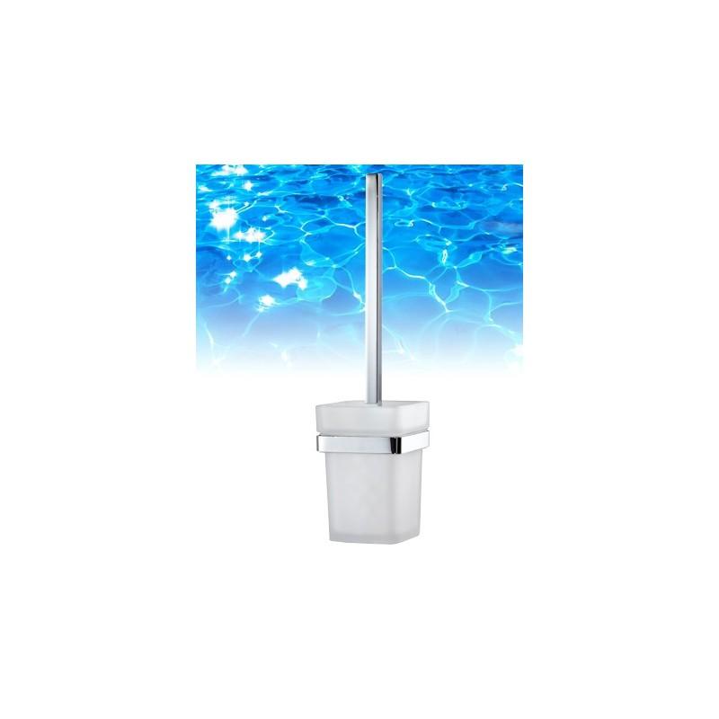 Omnires LIFT Szczotka WC wisząca chrom/szkło 8157