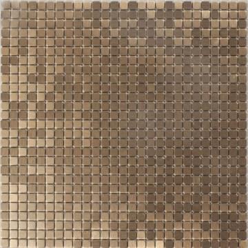 Dell' Arte BRUSHED COOPER Mozaika metalowa  matowa-polerowana 300x300