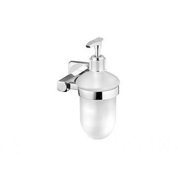Bisk ICE Dozownik do mydła wiszący chrom/szkło 04849