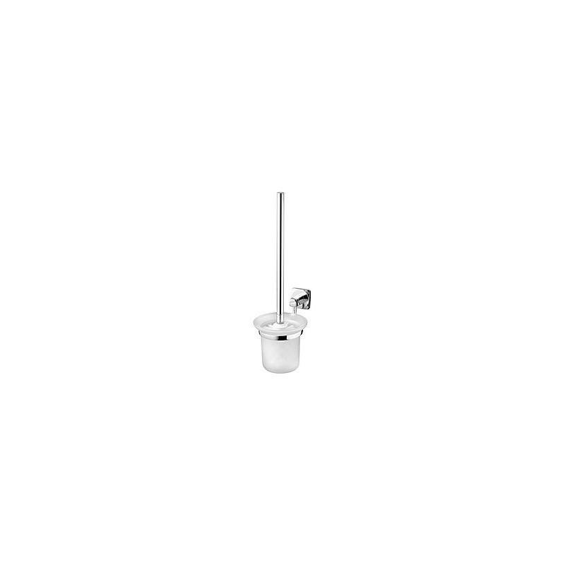 Bisk ICE Szczotka toaletowa Wc wisząca chrom/szkło 04855