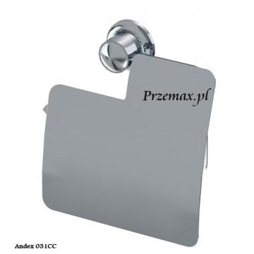 Andex CLASSIC Uchwyt do papieru toaletowego z klapką chrom 031CC