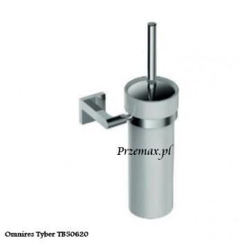 Omnires TYBER Szczotka toaletowa Wc wisząca chrom TB50620