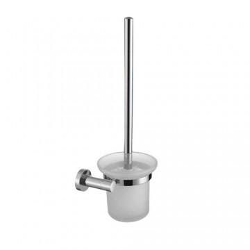 Omnires MODERN PROJECT Szczotka WC wisząca chrom/szkło MP60620