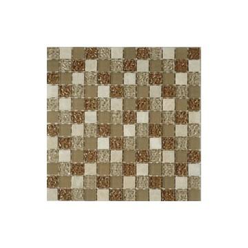 Dell' Arte RUSTICO ORO Mozaika szklana poler/mat 300x300 moduł 23X23