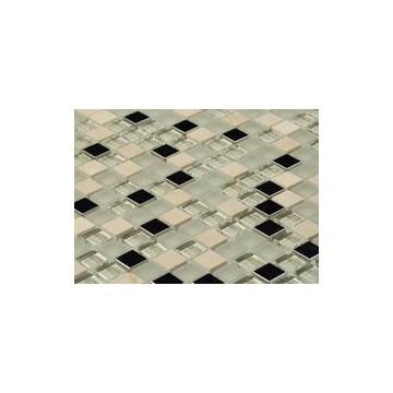 Dell' Arte BIANCO METALLIC Mozaika szkło/metal300x300