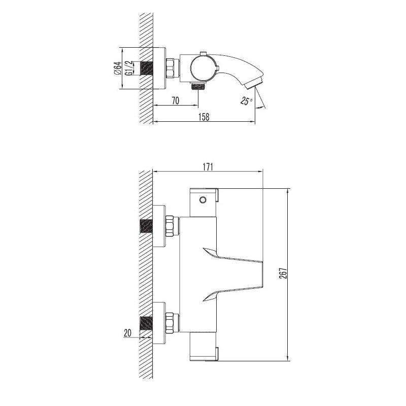 Art Platino TER-BWNT.022C bateria wannowa termostatyczna BON UPOMINKOWY O WARTOŚCI 20 ZŁ