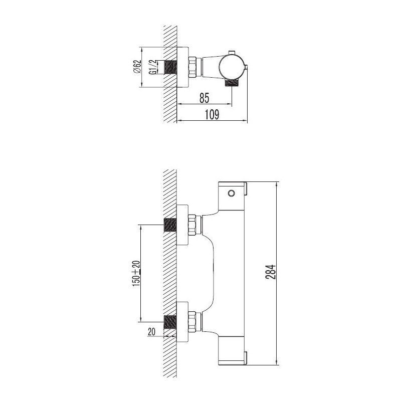 Art Platino TER-BPKT.030C bateria prysznicowa termostatyczna BON UPOMINKOWY O WARTOŚCI 20 ZŁ
