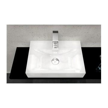 REA XARA Umywalka ceramiczna nadblatowa biała