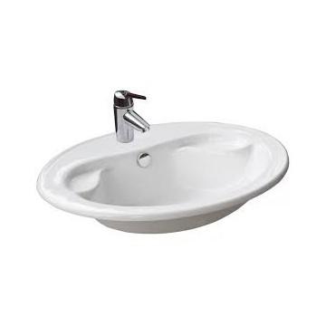 REA CALIPSO Umywalka ceramiczna nadblatowa biała