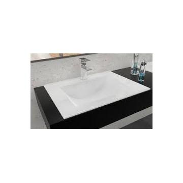 REA DAFNE-60 Umywalka ceramiczna biała wpuszczana