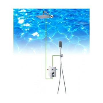 Omnires APURE AP10 kompletny system prysznicowy p/tynkowy