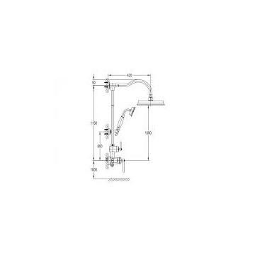 Omnires Armance AM5244/6 zestaw termostatyczny chrom